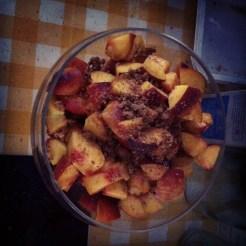 Peaches and amaretti