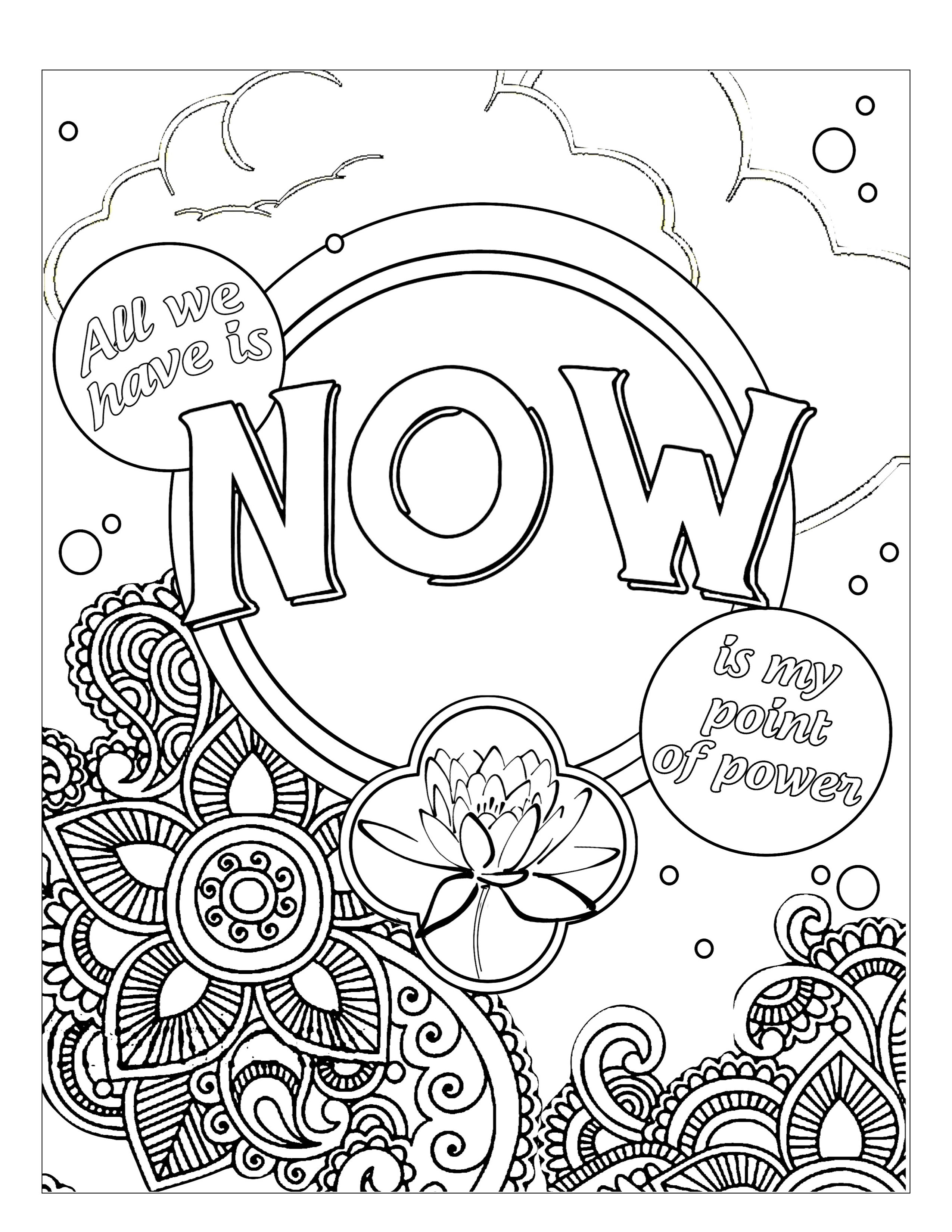 "Today is the birthday of ""The Art of Now Coloring Book"""