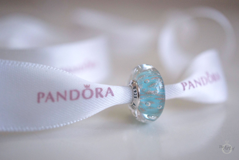 REVIEW PANDORA Mint Glitter Glass Murano The Art Of