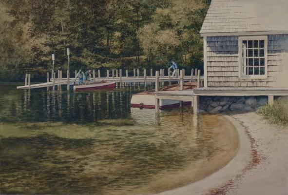 20116 image of watercolor Mast Landing Fishing