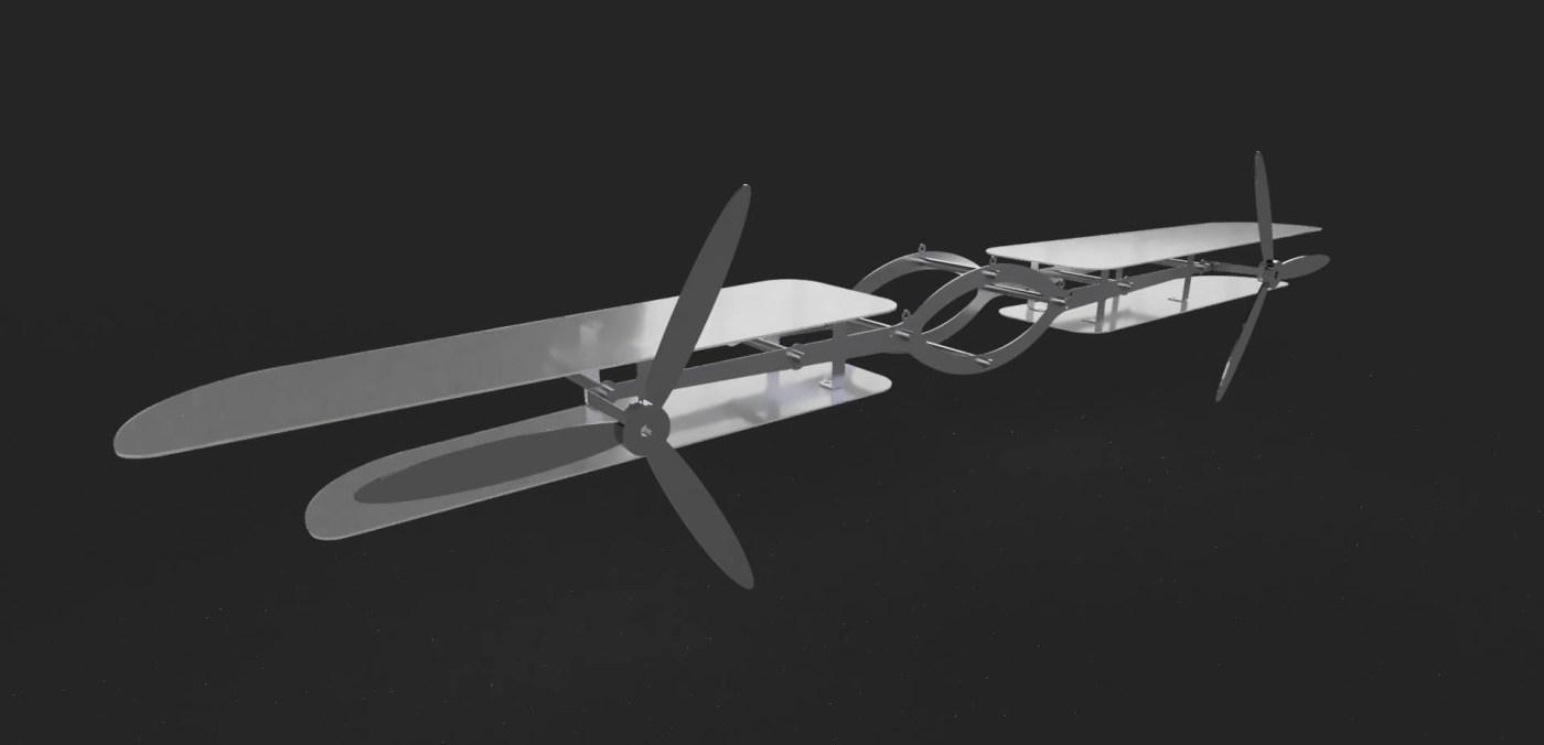 -街角飛行-160x20x15cm-金屬、馬達、複合材質-2018