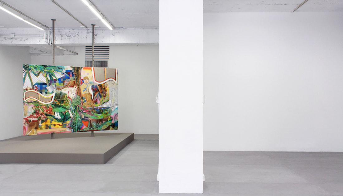 Week 1: 謝牧岐 Hsieh Mu-Chi,《有椰子與芭蕉樹的風景》'The Landscape of Coconut and Banana Tree', 2018, 壓克力顏料、畫布 Acrylic on canvas, 182 x 259cm