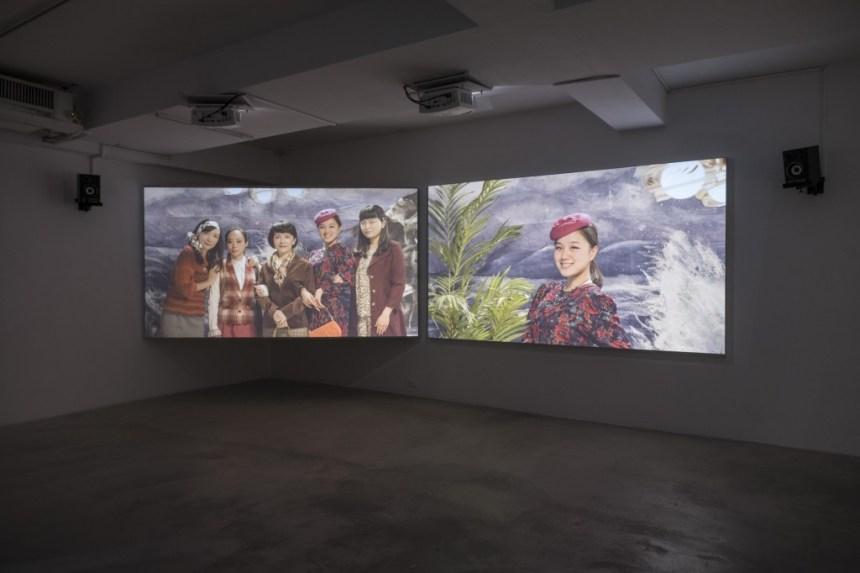 廖祈羽,《忘憂公園》,雙頻道錄 像,20分30秒,2015,藝術家提供 。