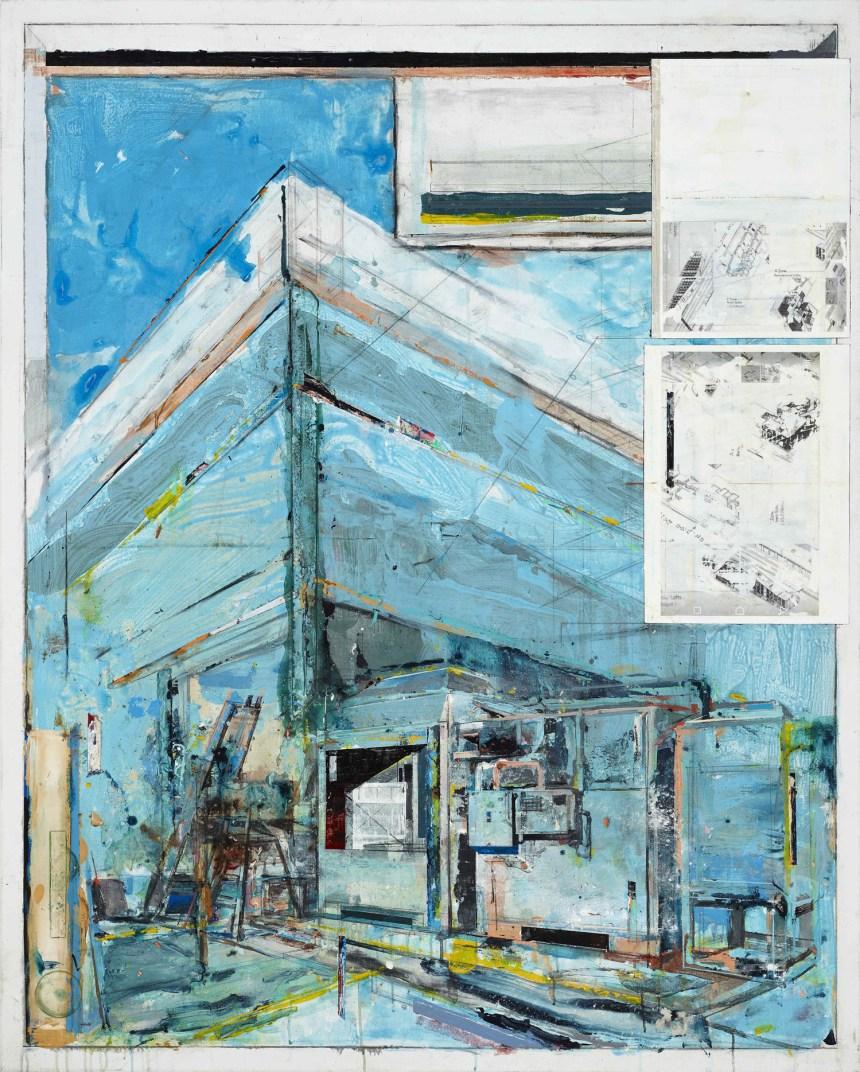 陳建榮,《Landscape133》,壓克力顏料、綜合媒材、畫布,162×130 x 3cm /100F,2018,藝術家提供。
