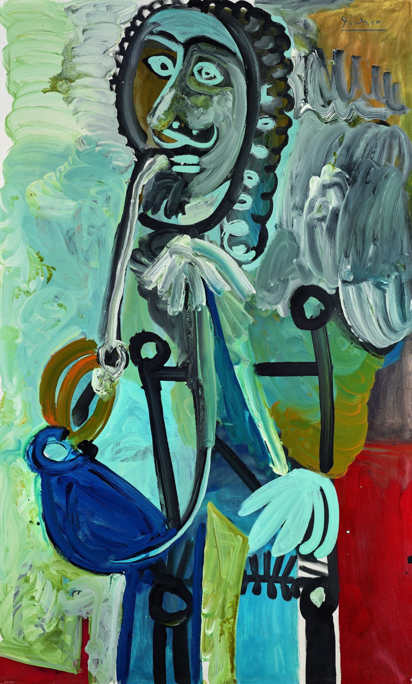Pablo Picasso, Homme à la pipe, 1968, oil on canvas (est. £5,500,000-7,500,000)