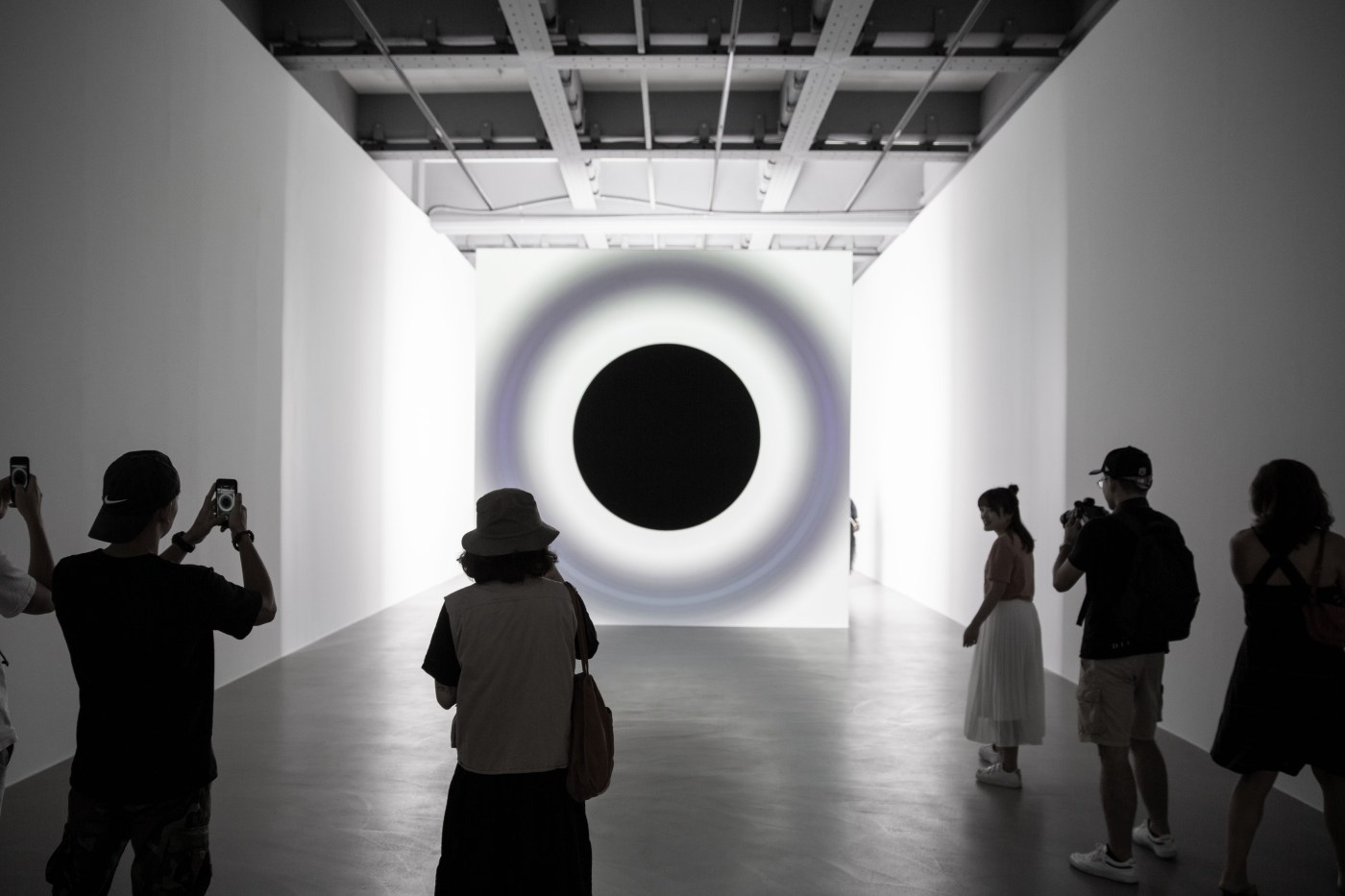 07_point of no return, Installation View, Ryoji Ikeda Solo Exhibition at Taipei Fine Arts Museum (TFAM) ©TFAM