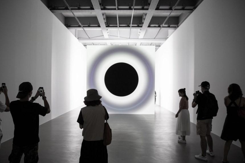 07_point of no return, Installation View, Ryoji Ikeda Solo Exhibition at Taipei Fine Arts Museum (TFAM) ©TFAM