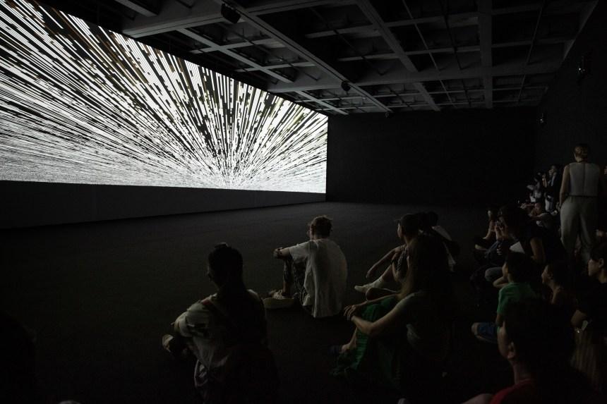 code-verse, Installation View, Ryoji Ikeda Solo Exhibition at Taipei Fine Arts Museum (TFAM) ©TFAM