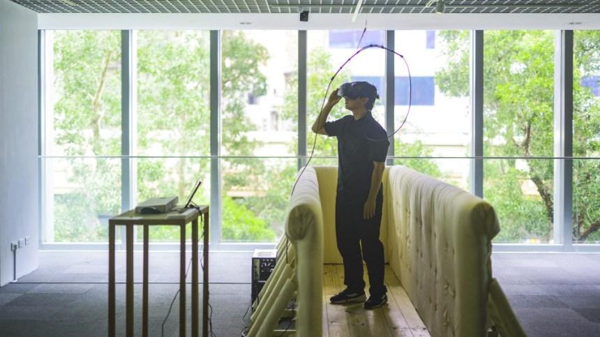 VR創作 (北師美術館提供,黃宏錡拍攝)