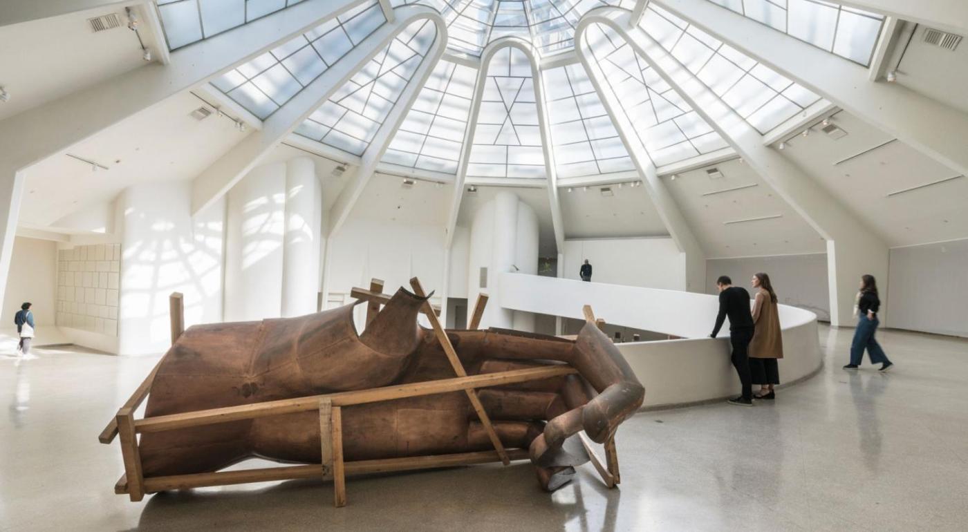 Danh Vo (b. 1975) We the People (detail), 2011–16 Copper, wood. 200 x 400 x 200 cm Solomon R. Guggenheim Museum, New York, Photo: David Heald