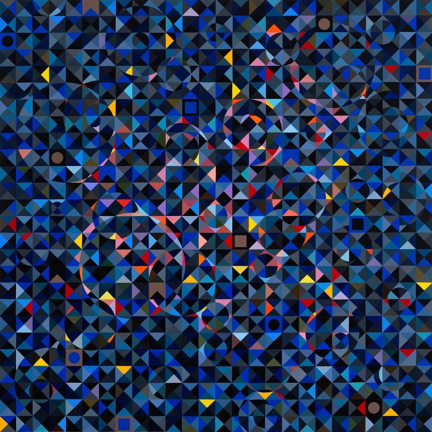 莊普,氣環,2019,壓克力顏料/畫布,130 x 130 Courtesy of the artist and 誠品畫廊 ESLITE GALLERY