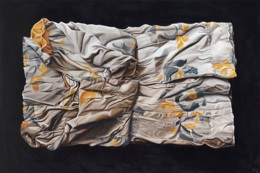 《翻頁:轉移地景》 Turing the page: Shifting Landscapes 2019 Oil on canvas 121.92x 182.88 cm Courtesy of the artist and 安卓藝術 Mind Set Art Center