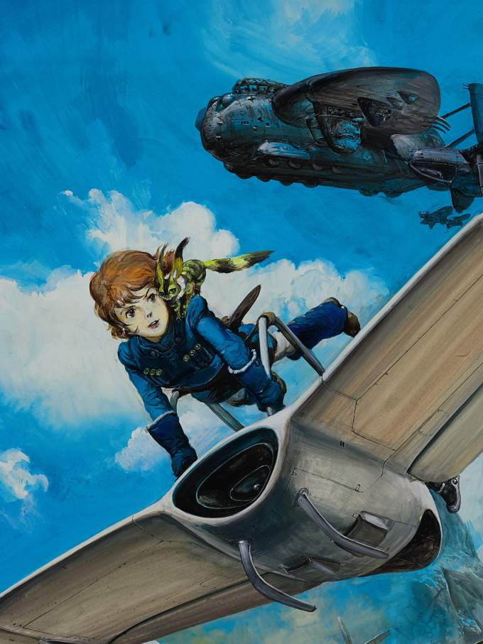 Studio Ghibli, Directed by Hayao Miyazaki, Painted by Yoshiyuki Takani Courtesy of Sotheby's