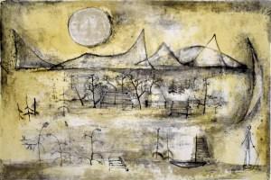 ART TAIPEI 2019 highlight - Zao Wou-Ki_Mountains and Sun_Lithograph_38x57_1951 Courtesy of Gilden's Arts Gallery|英國倫敦
