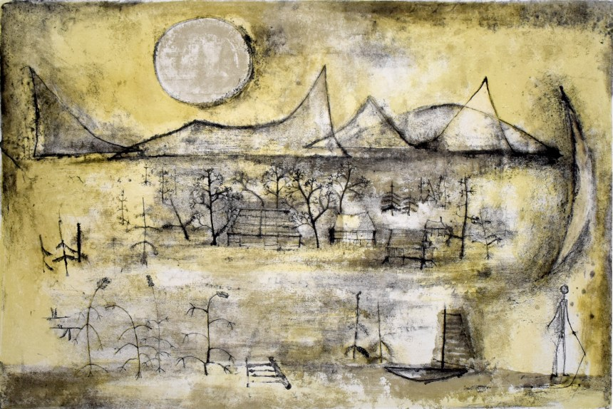 ART TAIPEI 2019 highlight - Zao Wou-Ki_Mountains and Sun_Lithograph_38x57_1951 Courtesy of Gilden's Arts Gallery|英國倫敦