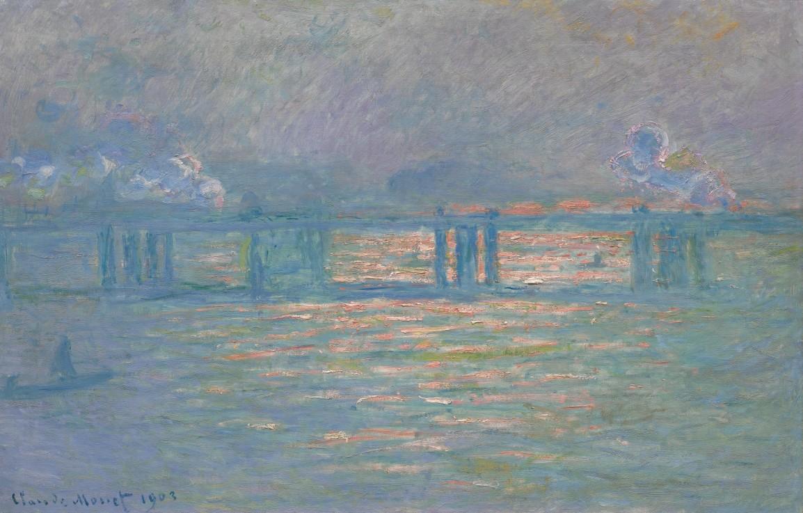 克勞德・莫內《查令十字橋》,1903年作。成交價27,600,000美元。