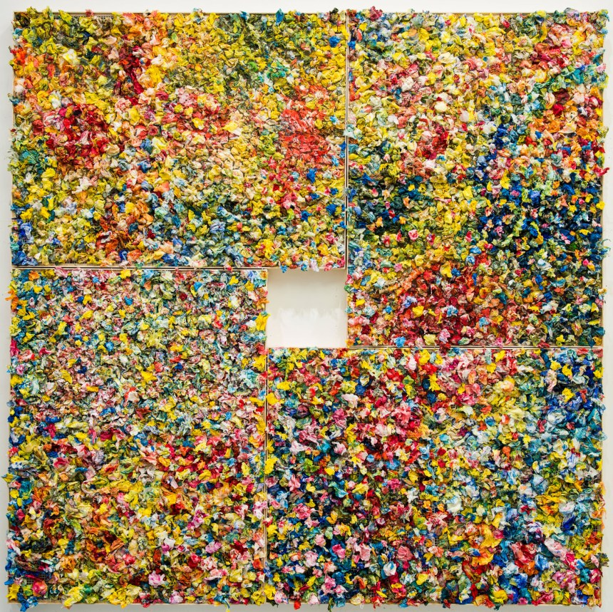 「江賢二:回顧展」 Paul Chiang: A Retrospective   江賢二,《春》,2019 油彩、複合媒材,300 × 300 公分。藝術家提供。