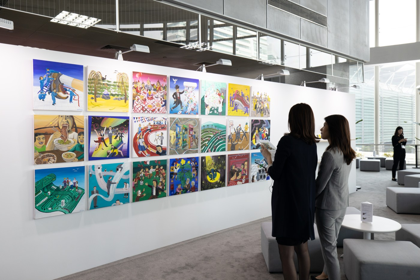 Installation view of UBS-commissioned work by Huang Hai Hsin presented at the UBS VIP Lounge,Taipei Dangdai 2020.