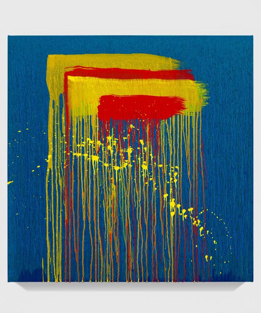 Pat Steir Taipei Paintings: Twenty-Five, 2019 Oil on canvas 36 x 36 inches (91.4 x 91.4 cm)