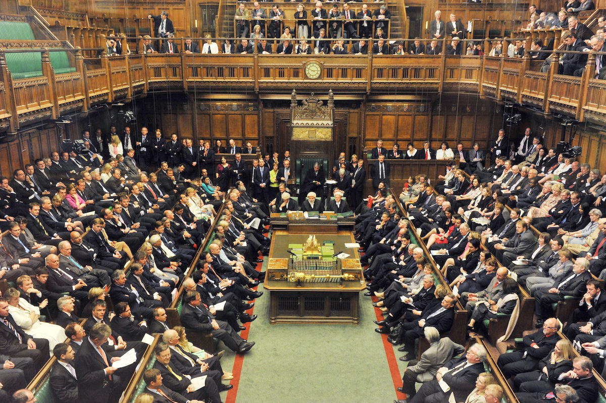 The House of Commons in London. Photo courtesy U.K. Government, via Wikimedia Commons.