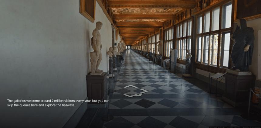 館藏有波提切利知名畫作「維納斯的誕生」和「春」的烏菲茲美術館(Uffizi Gallery)。