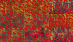 江賢二,《金樽/秋》,2019 油彩、複合媒材 360 x 630 cm 藝術家自藏 ©臺北市立美術館及藝術家提供