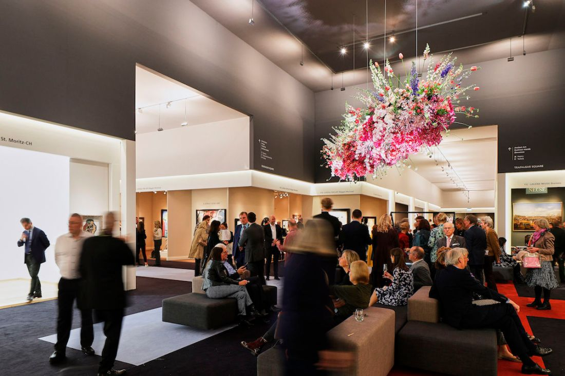 Visitors to the 2020 edition of the TEFAF Maastricht art fair. Photo courtesy TEFAF.