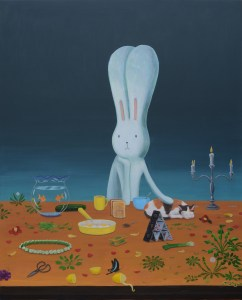 Atsushi Kaga A breakfast in January, 2020 Acrylic on canvas 150x120 cm Courtesy the artist and mother's tankstation