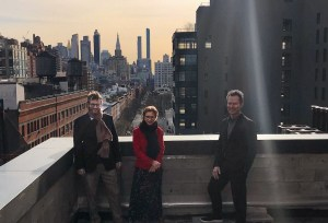 From left to right- Iwan Wirth, Manuela Wirth, and Marc Payot in early February 2020. Photo courtesy of Hauser & Wirth