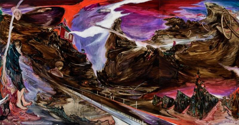 傅饒 Rao FU, 《深淵》 Abyss 2020 油彩、畫布 Oil on canvas 220x420 cm, Courtesy of Mind Set Art Center