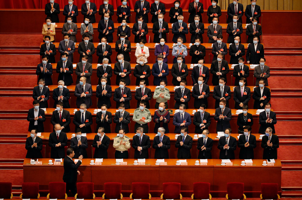 週四,中國國家主席習近平在人民政治協商會議上。PHOTO BY ANDY WONG