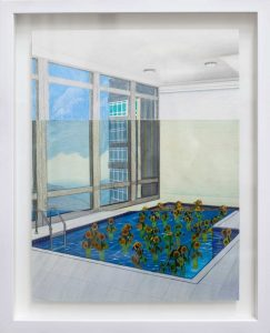 Mak Ying Tung 2 麥影彤二 Home Sweet Home- Flower Pool RAW, 2020 Colored pencil on paper, triptych 40 x 30 cm (48.5 x 38.5 cm with frame) USD950, Courtesy of 德薩畫廊