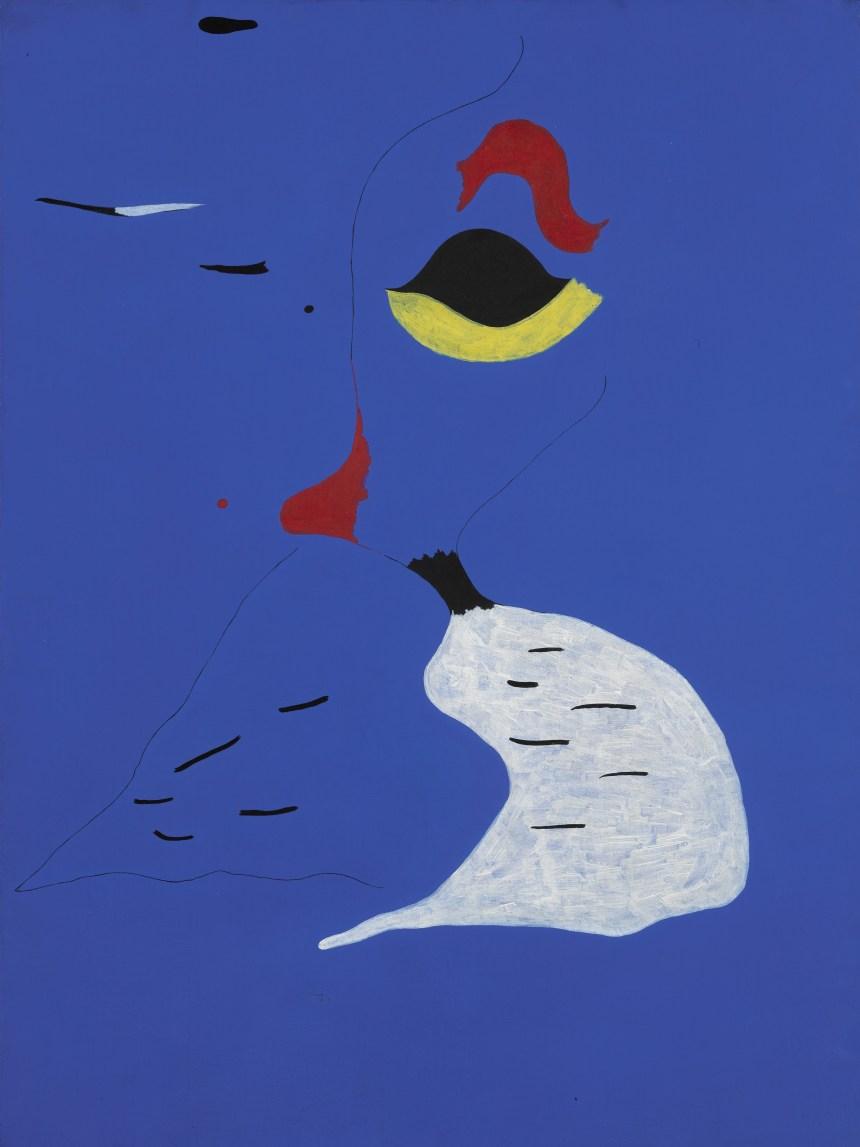 Lot 17, Joan Miró, Peinture (Femme au chapeau rouge), 1927, oil on canvas (est. £20-30 million), Courtesy of Sotheby's