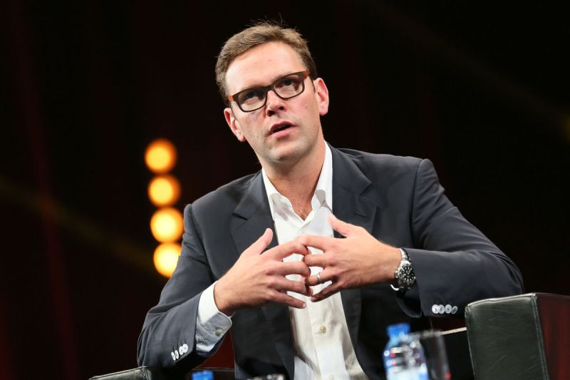 James Murdoch at the Palais des Festivals in 2014. Photo by Tony Barson/FilmMagic.