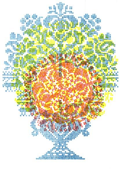 Juliane Laitzsch_Rosettes and Trees of Life__09_2012_鉛筆、色鉛筆、紙本_59.4x42cm, Courtesy of 本事藝術 Solid Art