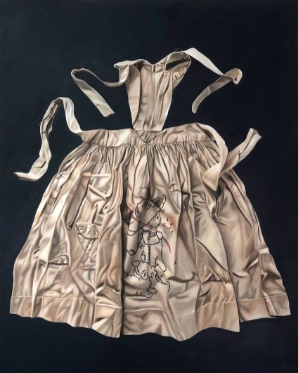 Marina CRUZ 瑪莉娜.克魯斯, 《圍裙 I》 Apron I 2020 Oil on canvas 油彩、畫布 152.4 x 121.92 cm, Courtesy of 安卓藝術 Mind Set Art Center