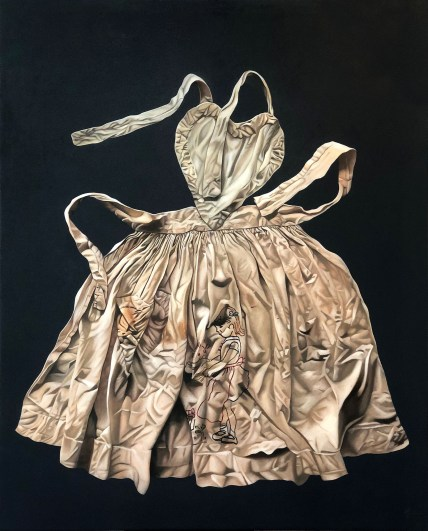 Marina CRUZ 瑪莉娜.克魯斯, 《圍裙 II》 Apron II 2020 Oil on canvas 油彩、畫布 152.4 x 121.92 cm, Courtesy of 安卓藝術 Mind Set Art Center