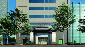 楊俊 Jun Yang, Jun Yang(紅字)於TKG+ Projects 外觀3D模擬圖 3D renderings of Jun Yang (Red Letters) at TKG+ Projects 2020, Courtesy of the artist and TKG+ Projects