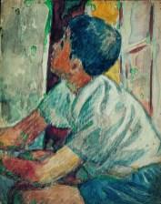 吳大羽 Wu Dayu, 男孩 Boy, 水彩.紙本, 29.3 x 23 cm, Courtesy of the artist and Tina Keng Gallery