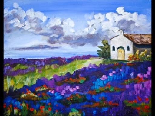 lavender field landscape step