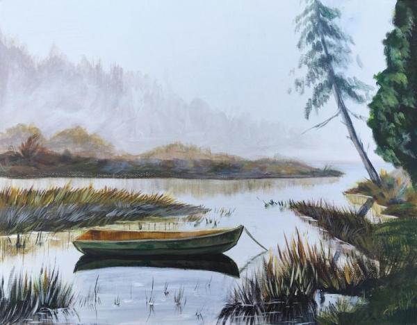 paint acrylic landscape