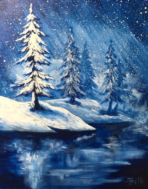 simple winter landscape frozen
