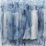 Sans titre, 2010 Papier de soie et pigment sur toile 80 x 80 x 7 cm © Claudine Drai. Courtesy Galerie Jérôme de Noirmont, Paris.