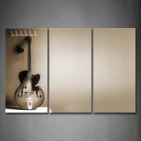 20 Inspirations of Guitar Canvas Wall Art
