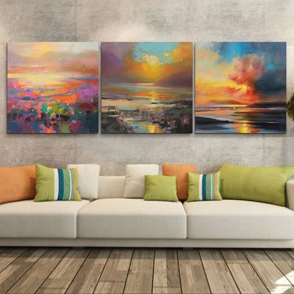 2019 Latest 3 Piece Abstract Wall Art