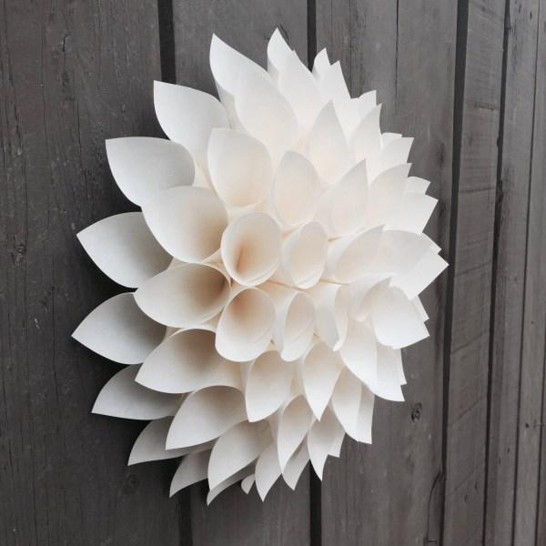 3D Paper Flower Wall Art