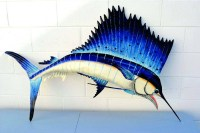 2018 Latest Shoal Of Fish Metal Wall Art