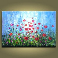 30 Best Collection of Metal Poppy Wall Art