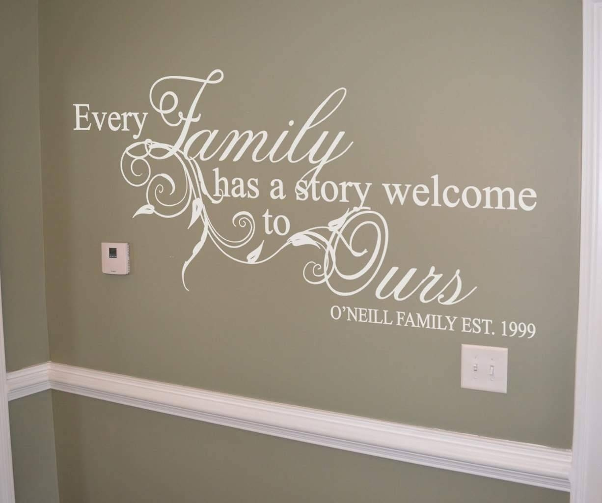 20 Best Ideas of Personalized Family Wall Art