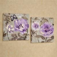 25 Ideas of Purple Flower Metal Wall Art